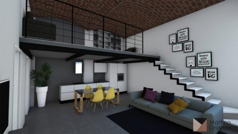 progetto di interior design